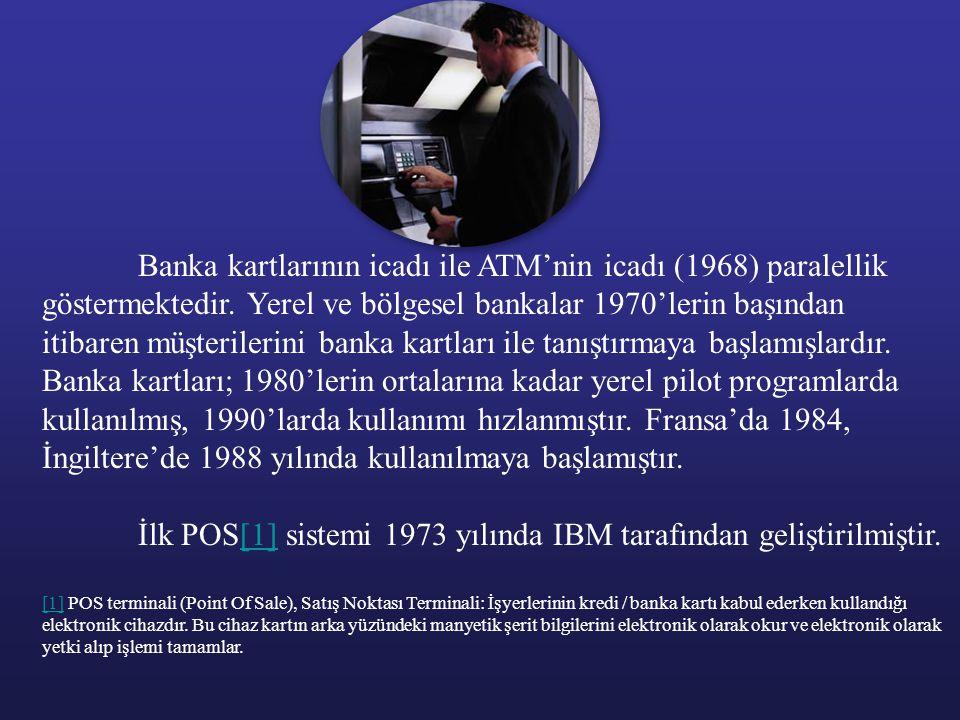 İlk POS[1] sistemi 1973 yılında IBM tarafından geliştirilmiştir.